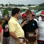 Announcing amateur winner