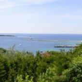 Wide view of Mackinac Island