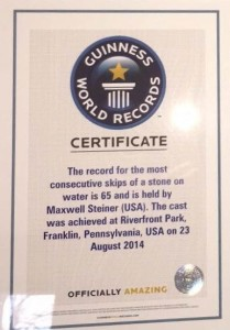 MaxGusinessWorldRecordCertificate